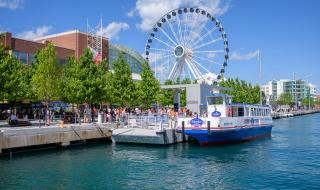 Navy Pier with the famed Ferris Wheel