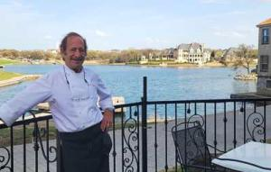 Harry's at the Harbor Patio Executive Chef Dan Dreyer on the patio