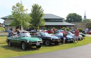 Cars on display at the 2018 1000 Islands Concours d'Elegance