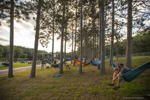 Hammocks Watching concert at Blue Ox Music Festival: Campout in the Pines in Eau Claire, WI