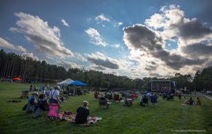 Wide shot of Blue Ox Music Festival: Campout in the Pines in Eau Claire, WI