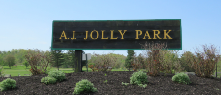 photo of sign at aj jolly park in Alexandria ky