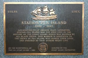 Station Pea Island Plaque