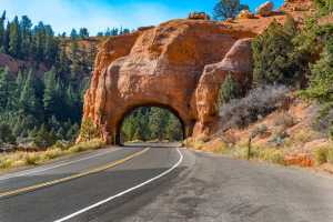 Red Canyon Bryce Canyon Country Scenic Byway 12 Tunnel