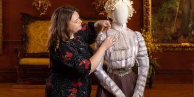 Reproduction Costume for A Vanderbilt House Party exhibit at Biltmore Estate 2019