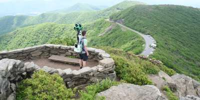 Google Trekker at Craggy Gardens