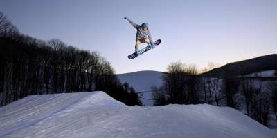 Snowboarding at Cataloochee Ski Area