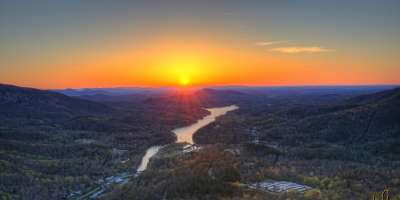 Chimney Rock Sunrise Service