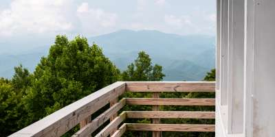 View from the Rich Mountain Fire Tower near Asheville, NC