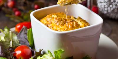 Pesto Egg Souffle #Recipe | ExporeAsheville.com