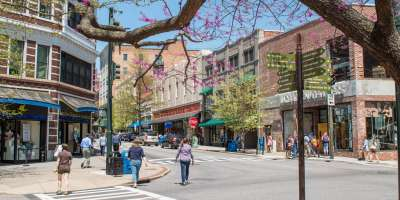 Spring in downtown Asheville