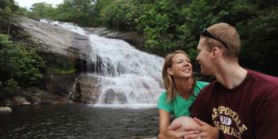 Waterfall couple