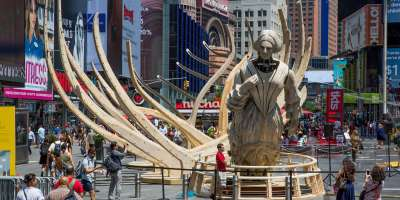 Mel Chin's Wake sculpture installation moves from Times Square to Western North Carolina