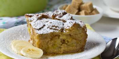 Banana Bread Pudding made with Croissants thumbnail