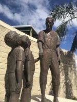 Statue of Jackie Robinson at Jackie Robinson Ballpark