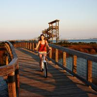 Biking at Big Lagoon State Park