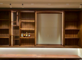 Custom shelves by Brian Holcombe Woodworker LLC in Princeton