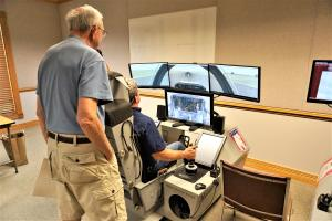 Try a Flight Simulator at the Military Heritage Museum in Punta Gorda, Fla.