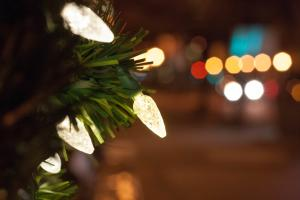 Christmas tree lights Downtown Carlisle
