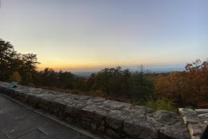Overlook at dusk at the Kinds Gap Mansion