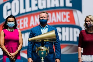 NCA Megaphone Trophy presented to City of Daytona Beach and Volusia County