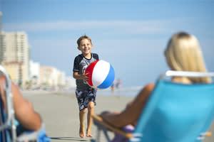 Family enjoying vacation in Daytona Beach