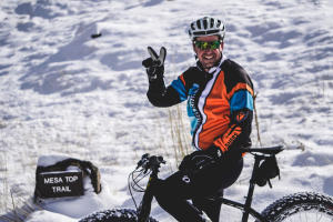 Winter Mountain Biker