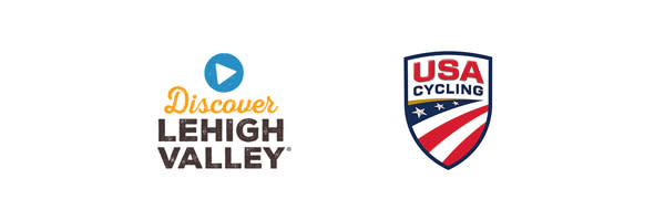 Discover Lehigh Valley and USA Cycling Logos