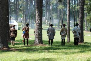 Men in uniform from colonial days