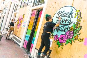 BLM Protest Mural