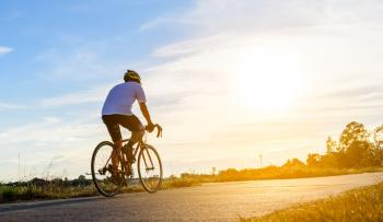 Man Bicycling in Jefferson Parish