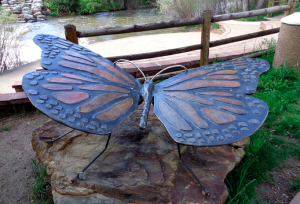 Rotary Butterfly Statue