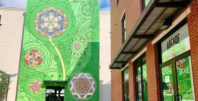 McKinney Blooms Mural by Arcade 92