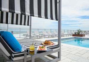Cabana by the pool in Daytona Beach, Florida