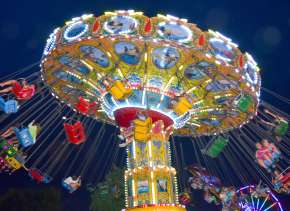 Three Rivers Festival Swings at Night