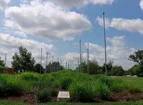 Pulse Field Sculpture by Derek Porter at Wichita Art Museum's Art Garden