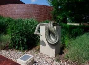 Sophie Sculpture by Tony Hochstetler at Wichita Art Museum's Art Garden