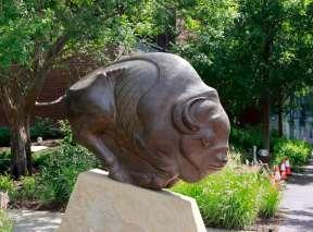 Spectre of Ancient Pathways Sculpture by Steve Kestrel at Wichita Art Museum's Art Garden