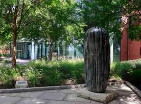Untitled Dango Sculpture by Jun Kanekoat at Wichita Art Museum's Art Garden