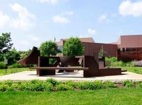 Yantra Sculpture by Isaac Witkin at Wichita Art Museum's Art Garden