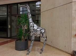 Chrome Bumper Giraffe at Ruffin Building In Wichita, KS