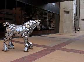 Chrome Bumper Horse at Ruffin Building In Wichita, KS