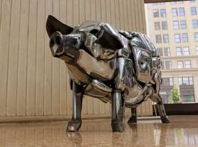 Chrome Bumper Pig at Ruffin Building In Wichita, KS