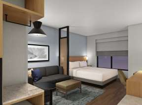 Hyatt Place King Bedroom (Rendering)