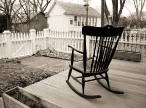 Old Cowtown Porch and Rocking Chair