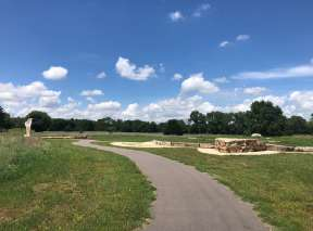Walking Path at Sedgwick County Art Walk In Wichita, KS