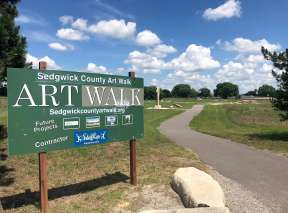 Sedgwick County Art Walk Entrance In Wichita, KS
