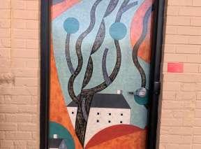 Burnt Orange Alley Door by Rebecca Hoyer