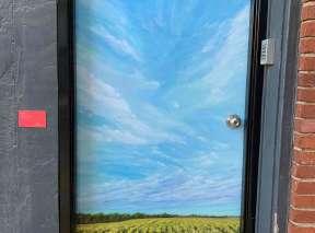 Field of Happiness Alley Door by Sue Godwin
