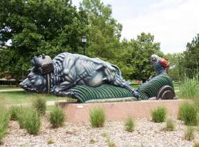 Sculpture From The Martin H. Bush Outdoor Sculpture Collection In Wichita, KS